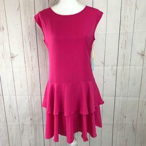 CeCe By Cynthia Steffe Pink Sheath Dress Size 6